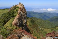 南尖峰からの天狗岳