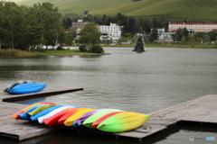 白樺湖のボート