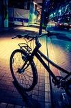 At midnight shopping street