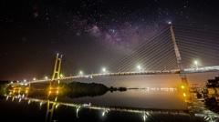 ツインブリッジと天の川