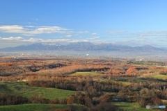 牧場からの秋景