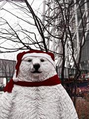 白熊くん上京 記念写真