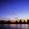 橋杭岩 -瑠璃と茜を背に-