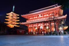 夜間拝観浅草寺