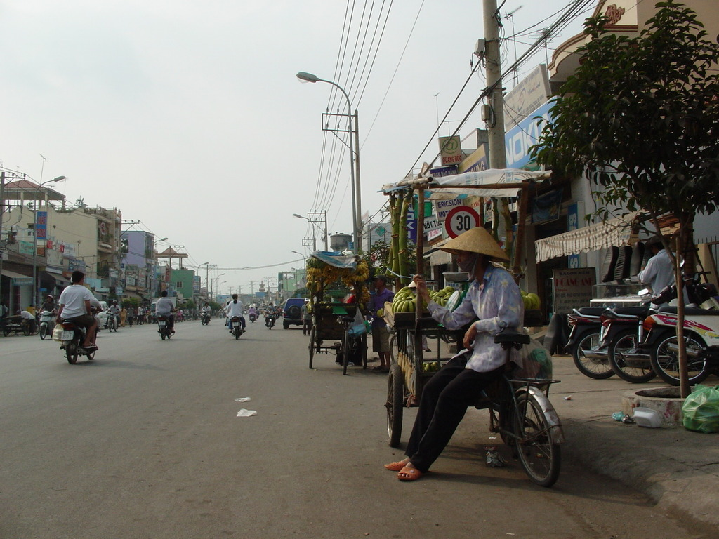 路上のバナナ売り