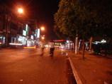 Mỹ Tho市の夜の街角