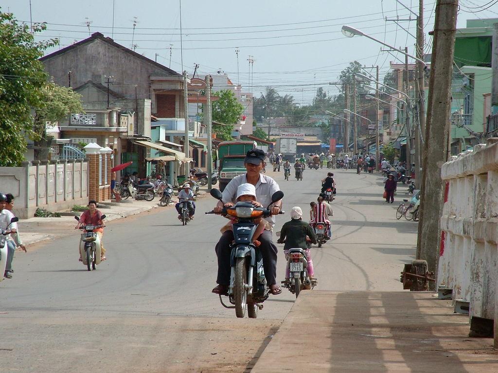 Go Cong の街の風景