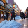 Snowed yesterday in ASAKUSA
