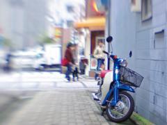 Blue SuperCub (Lensbaby)
