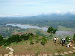 Đà Lạt市の展望台からの眺め