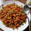 Colorful fried rice