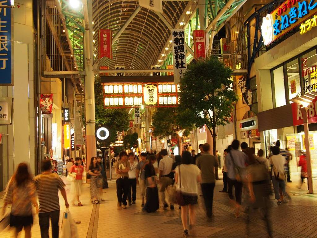 Shopping mall in SENDAI city