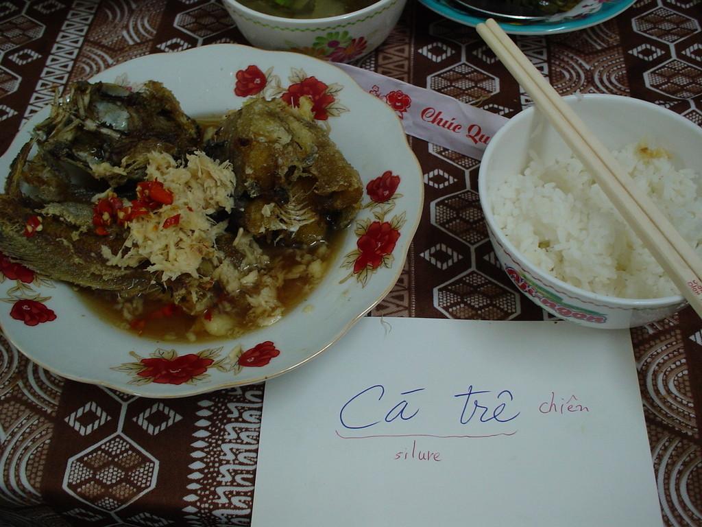 Ca Tre Chien(揚げ鯰の甘辛あんかけ)