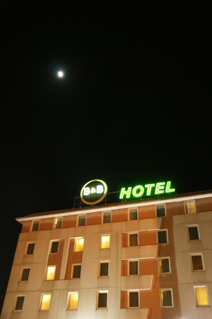 月がキレイ