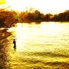 釣り人佇む