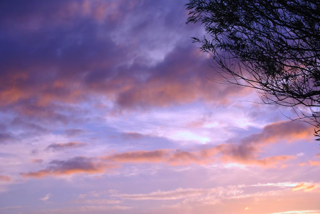 夕焼け(青紫)