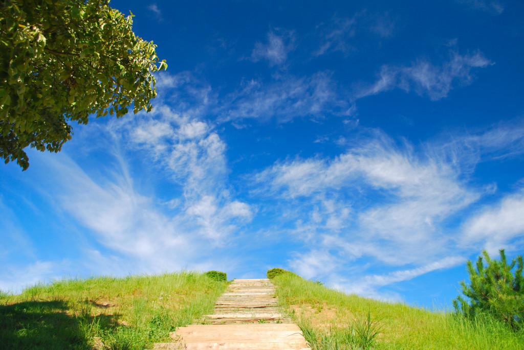 階段を上れば…。
