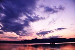 琵琶湖の夕