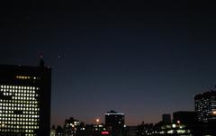 夜空 赤レンガ倉庫