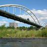 NIKON COOLPIX P5000で撮影した風景(豊平川)の写真(画像)