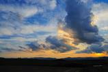 美瑛の雲と夕景