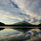 NIKON NIKON D3で撮影した風景(朝日を浴びる富士)の写真(画像)