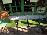 Five Green chairs