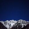 月明かりの穂高連峰