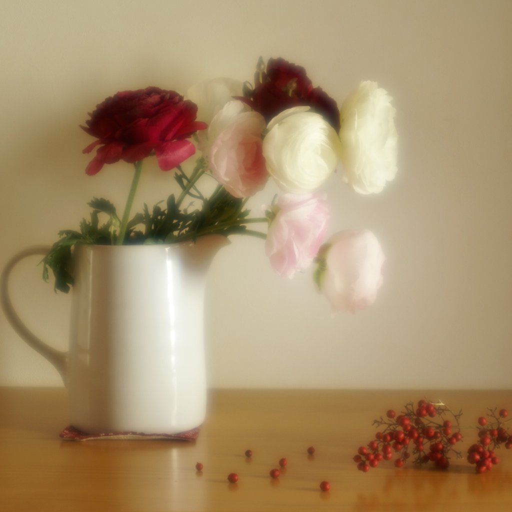 水差しの中の花
