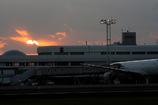 鹿児島空港の落日