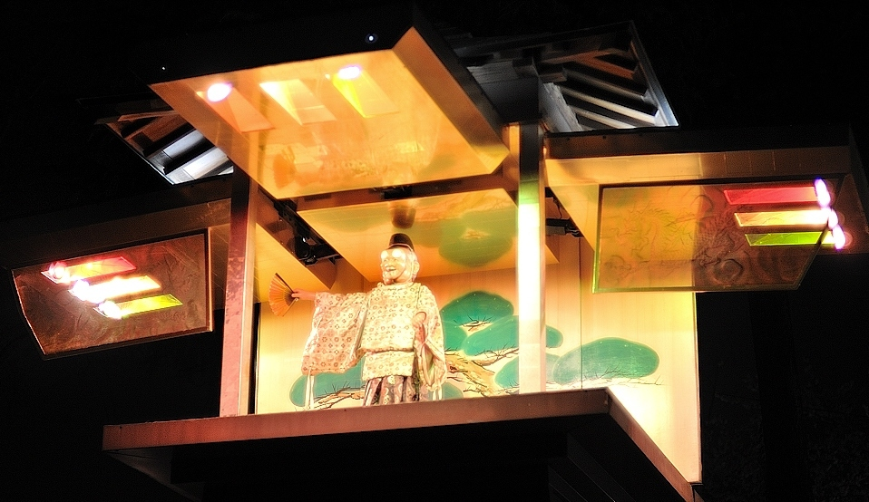 夜の岡崎城