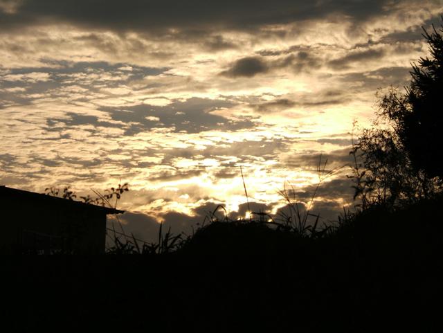 近所の西の空
