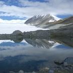 CASIO EX-Z1000で撮影した風景(氷河湖(アルタイ山脈))の写真(画像)