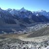 中央にアマダブラム(6812m)