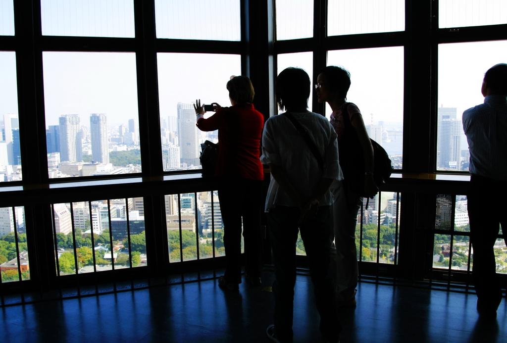 東京タワーから臨む