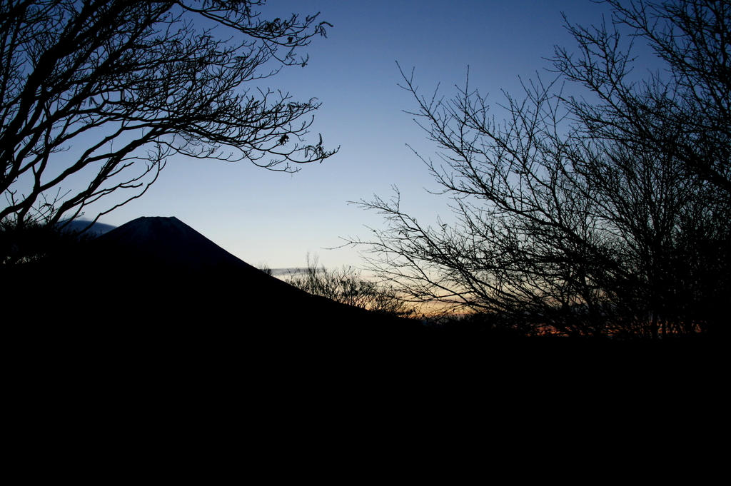 富士山の朝2