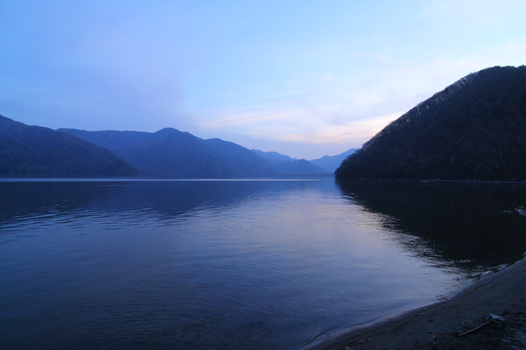 中禅寺湖 夕景