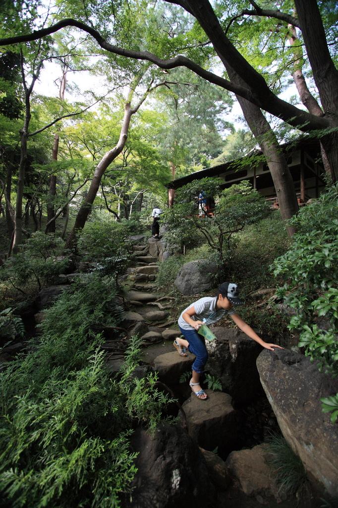家族で日本庭園に^^