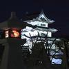 雪燈篭と城