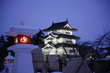 弘前城と灯篭