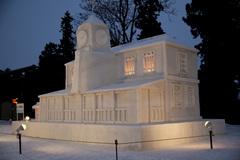 雪の時計台