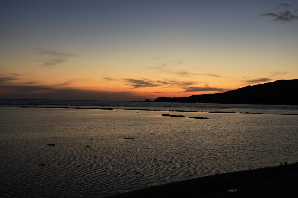 日本海夕景