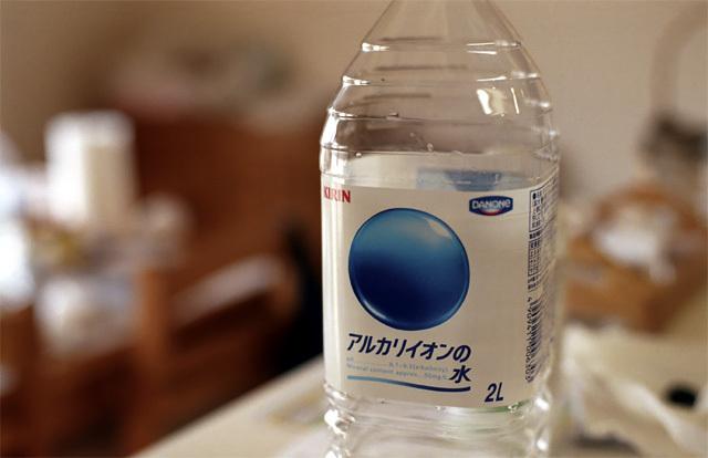 アルカリイオンの水