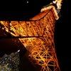月とツリーと東京タワー