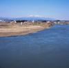 安達太良山を望む