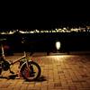 夜、自転車で釣りへ。