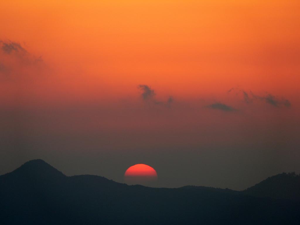 曽爾高原からの夕日
