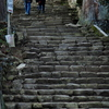 古寺の石階段