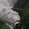 SL函館大沼号 雪崩爆煙