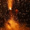 火の粉のシャワー
